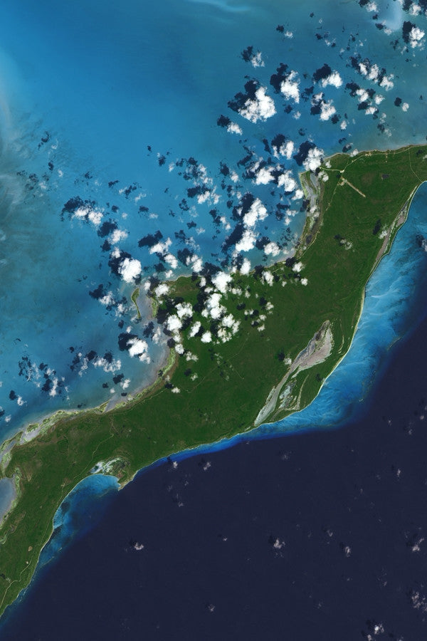 The Acklins And Crooked Island Bahamas Satellite Poster Map