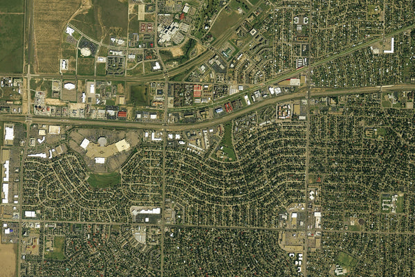 Amarillo Texas From Space Satellite Poster Map