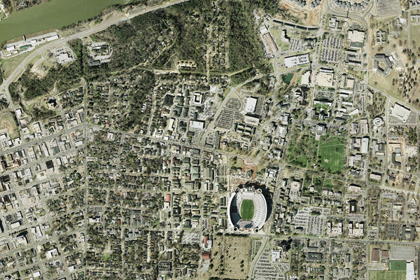 Tuscaloosa Alabama From Space Satellite Poster Map