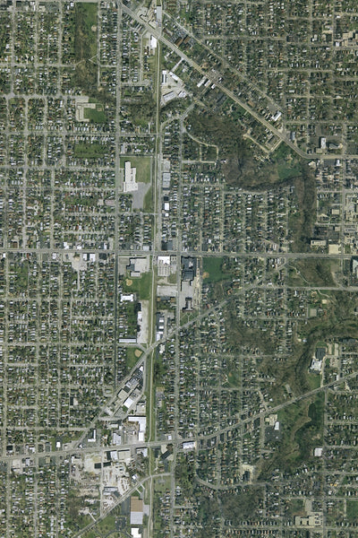 Waukegan Illinois From Space Satellite Poster Map