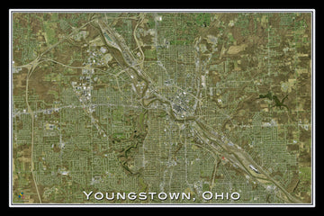 Youngstown Ohio Satellite Poster Map by TerraPrints.com. Available in multiple sizes with free shipping in the USA.