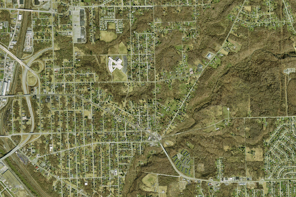 Youngstown Ohio From Space Satellite Poster Map