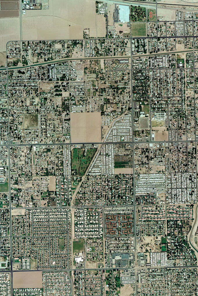 Satellite Map Of Arizona.Yuma Arizona Satellite Poster Map