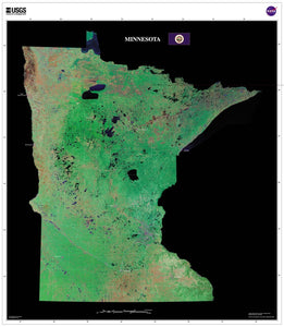 Minnesota Satellite Imagery State Map Poster by TerraPrints.com. Available in multiple sizes with free shipping in the USA.