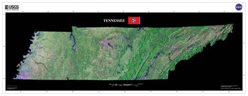 Tennessee Satellite Imagery State Map Poster by TerraPrints.com. Available in multiple sizes with free shipping in the USA.