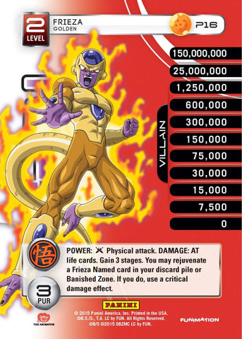 Movie Collection - Movie Collection - **MP - Frieza - Level 2 - Golden - SDCC PROMO