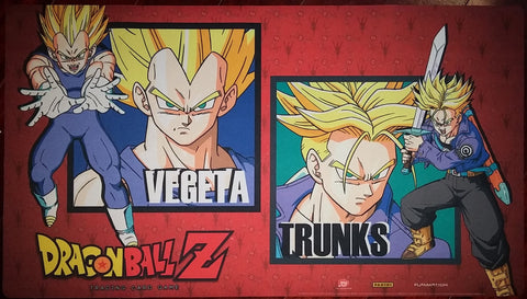 Supplies - Dragon Ball Z Playmat - Worlds Side Event - Vegeta/Trunks