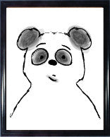 Picture frame with Mr. Panda Bear illustration - HAPPY little FACE