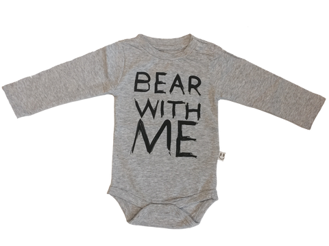 "BUDAPEST Body Gråmeleret ""BEAR WITH ME"""