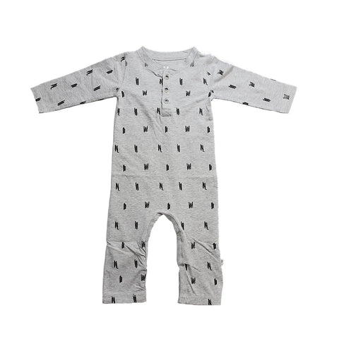 PARIS Playsuit Grey Melange - HAPPY little FACE