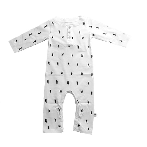 PARIS Playsuit White - HAPPY little FACE