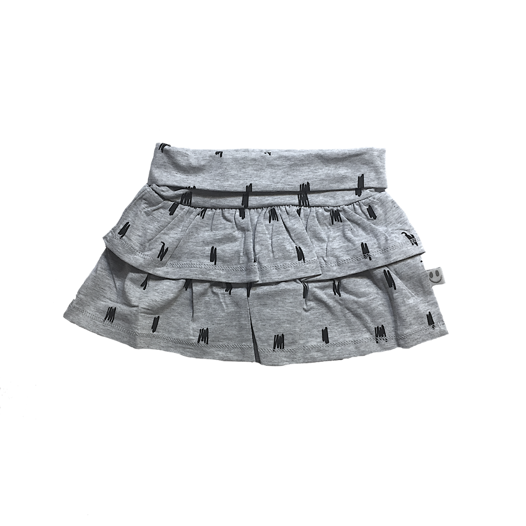 STOCKHOLM Skirt Grey Melange - HAPPY little FACE