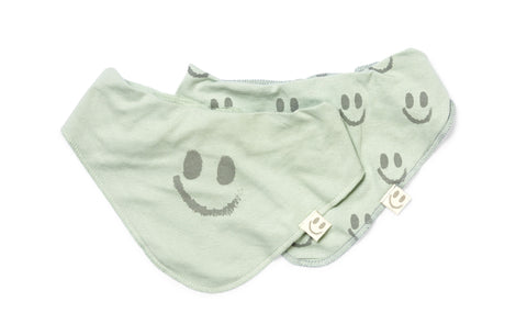 Bolivia bib (2 pack) Dusty Green/Forest Green - HAPPY little FACE