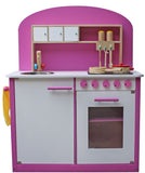 Kidzmotion La Cuisine Parfaite Wooden Pretend Play Kitchen Girls pink