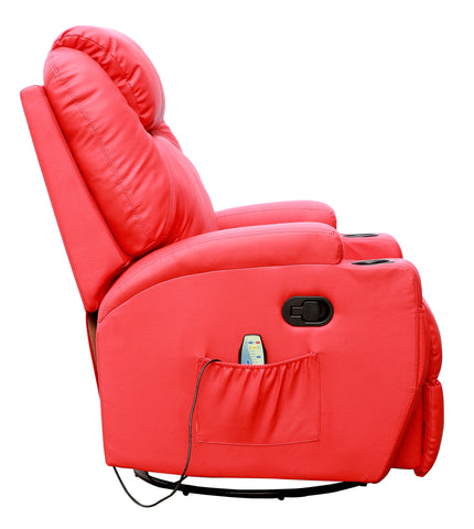 ... Kidzmotion Red Leather Recliner Gaming Chair - massage heat and electric recline ...  sc 1 st  Kidzmotion & Kidzmotion Red Leather Recliner Gaming Chair - massage heat and elect islam-shia.org