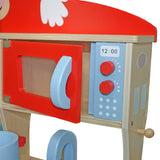 Kidzmotion La Cuisine Moyen Deluxe Unisex Wooden Pretend Kids Toy Kitchen