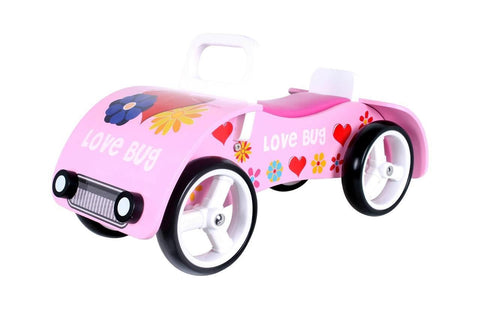 Kidzmotion 'Love Bug' Wooden sit on / ride on car