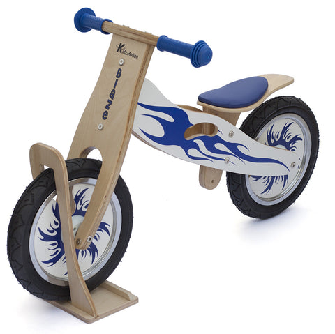 Kidzmotion 'Blaze' Wooden Balance Bike with stand