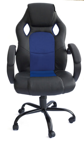 Kidzmotion Racing Gaming high back reclining office chair - blue