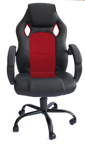 Kidzmotion Racing Gaming high back reclining office chair - red