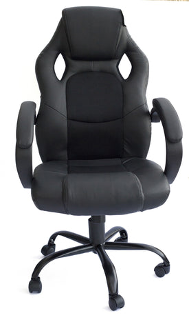 Kidzmotion Racing Gaming high back reclining office chair - black