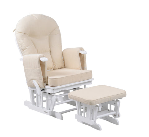 Sereno in White Glider Maternity Chair