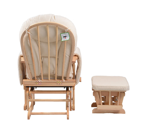 sereno natural nursing glider maternity rocking chair with footstool
