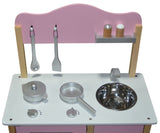 Kidzmotion La Mini Cuisine Wooden Pretend Play Kitchen Pink