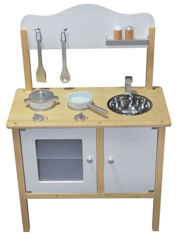 Kidzmotion La Mini Cuisine Wooden Pretend Play Kitchen white unisex
