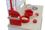 Kidzmotion La Petite Cuisine Deluxe Unisex Wooden Pretend Kids Toy Kitchen