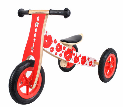 Kidzmotion 'Sweetie' Wooden Balance Bike / Trike