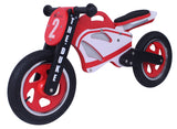 Kidzmotion 'The Duke' Wooden Motorbike Balance Bike