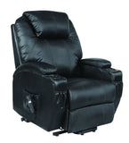 Kidzmotion Black Leather Recliner Gaming Chair - electric lift and recline