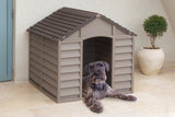 Dog Kennel durable plastic (mocha)