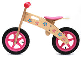 Kidzmotion 'Ooowee' Pink Wooden Balance Bike / first bike with stand