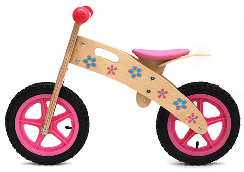 Kidzmotion 'Ooowee' Pink Wooden Balance Bike  / first bike / running bike