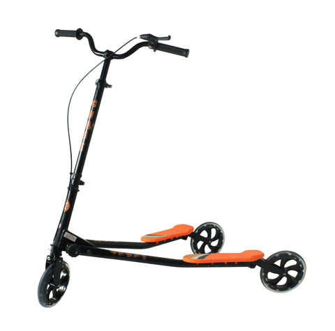 Kidzmotion Shway 3 wheel swing scooter speeder drifter black frame (14+ years)XL