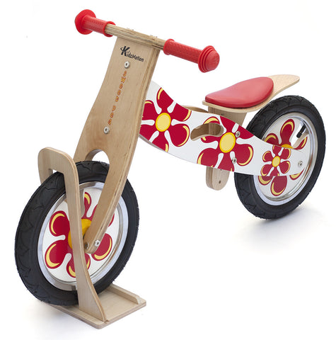 Kidzmotion 'Sweet Pea' Wooden Balance Bike / first bike / running bike with wooden stand