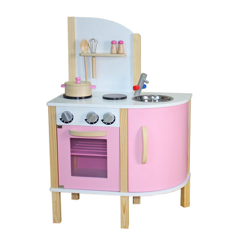 Kidzmotion La Cuisine Junior Wooden Pretend Play Kitchen Pink