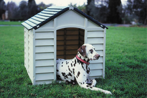 Dog Kennel durable plastic (beige)