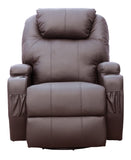 Kidzmotion Brown Leather Recliner Gaming Chair - electric lift and recline