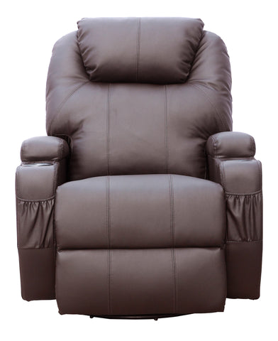 Kidzmotion Brown Leather Recliner Gaming Chair - massage / heat / electric recline