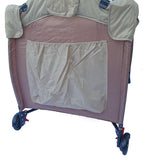 Kidzmotion Portable Baby Child Travel Cot Bed Bassinet Play Pen Playpen (brown)