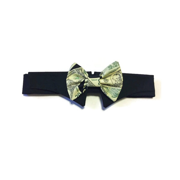 Cash Money Shirt Collar Bow Tie Set
