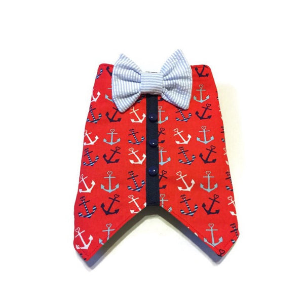 Anchored My Heart Bow Tie Vest