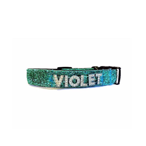 Personalized Name Rhinestone Collar--Up to 5 Letters