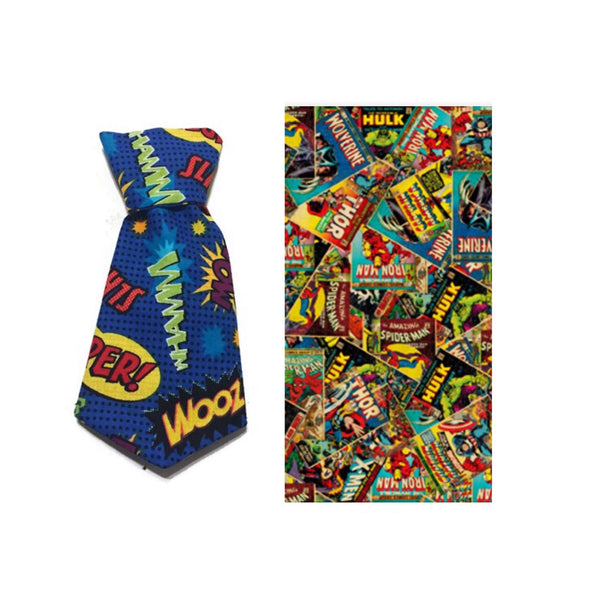 Marvel Comics Necktie Collar Set--3 Fabric Options
