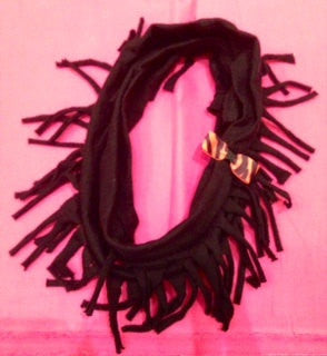 Infinity Fringe T-Shirt Scarf - Snort Life, Mini Pig Clothes