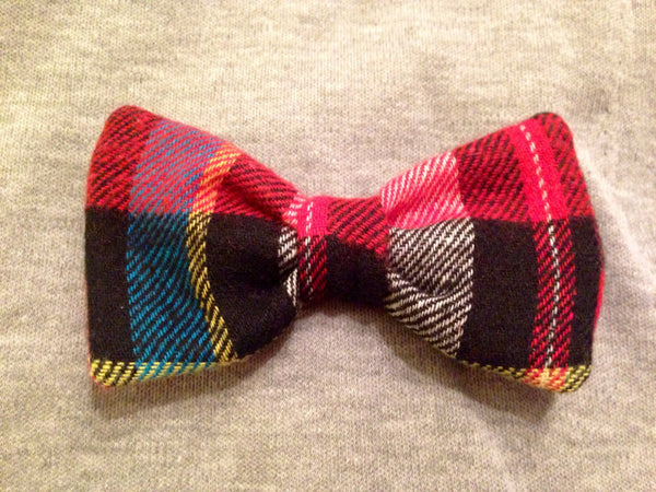 Newsboy Plaid Shirt Collar Bow Tie Set--11 Fabric Options - Snort Life  - 4