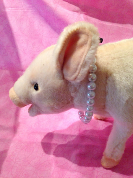 Pearl Necklace (10mm) - Snort Life, Mini Pig Clothes